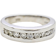 Gents Diamond 14K White Gold Wedding Band