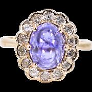 Tanzanite & Diamonds 9KT Rose Gold Ring