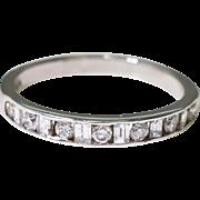 14K White Gold and Diamond Wedding Band 2.3 grams