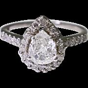 Platinum and Diamond Engagement Ring 4.7 grams