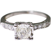 Platinum and Diamond Engagement Ring 0.58 carats, 4.3 grams
