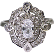 14K White Gold & Diamond Semi Mount Ring 4.8 grams