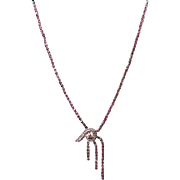Sterling Silver and Rubies 16.5 inch Necklace 16.2 grams