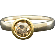 14K White/Yellow Gold & Diamond Engagement Ring 4.0 grams, 0.58ct