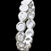 18K White Gold & Diamonds Engagement Ring semi mount 1.9 grams 0.80cttw F/VS1