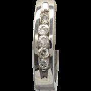 14K White Gold & 0.25cttw Diamond Huggie Hoop Earrings 2.3 grams
