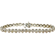 14K White Gold & Diamonds 7 inch Tennis Bracelet, 14.5 grams, 7.00 cttw, G-H, VS2-SI2