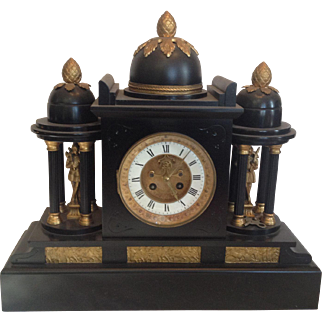 Bradley & Hubbard Shelf, Mantle Clock,   1885