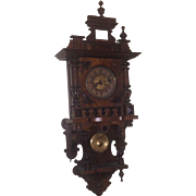 American Wood Wall Clock,   Ca. 1860 - 80