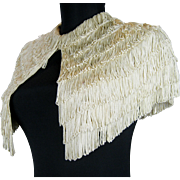 Fringed 1920s Flapper Short Dress Cape