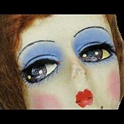 Blossom 1920s 30s Boudoir Flapper Cloth Doll ~ Superb Eyes!