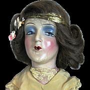 Vintage 1920s Smoker Boudoir Flapper Doll, Original Silk Dress, Pantaloons and Heels