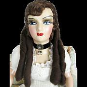 Vintage 1940s Scarlet O'Hara Boudoir Bed Doll
