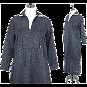 20s Dress, Vintage 1920s Dress, Black Silk Brocade Dress, 1920s Day Dress, Medium