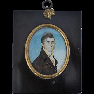 Antique Portrait Miniature Painting