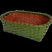 Fabulous 19th Century American Painted Splint Basket