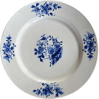 18th Century Tournay Porcelain Plate