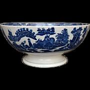 Staffordshire Transferware Punch Bowl circa 1800