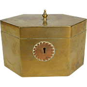 Georgian Brass Tea Caddy dated 1809