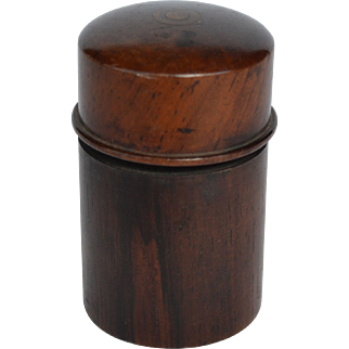 Treen Travelling Inkwell