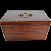 English Inlaid Mahogany Box Early 19th Century