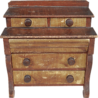 Early 19th Century Miniature Empire Painted Chest of Drawers