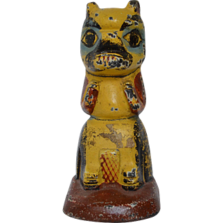 Cast Iron Doorstop - Totem Pole