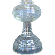 American Pressed Glass Oil Lamp