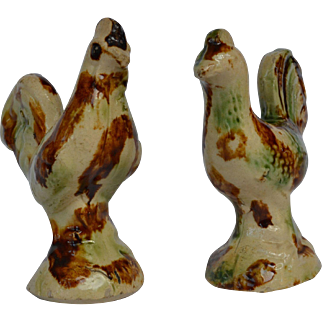 Two English Whieldon Creamware Roosters