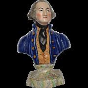 19th Century Staffordshire Bust of George Washington