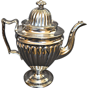 English Silver Luster Pottery Coffee Pot circa 1820