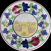Stick Spatter Rabbit Ware Plate