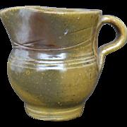Vintage Jugtown Pottery Pitcher - Frogskin Glaze