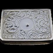 Antique Silver Snuff Box - Ben Wade Leeds