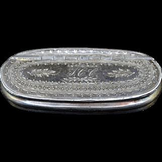 Silverplated Snuff Box
