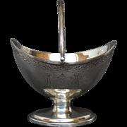 1793 Georgian Sterling Silver Sugar Basket