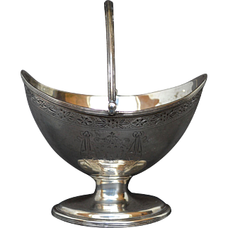 1793 Georgian Sterling Silver Sugar Basket