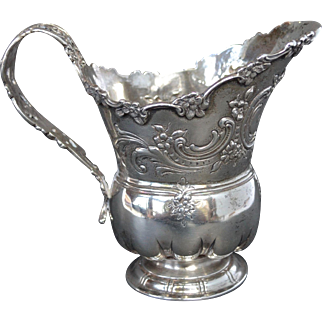 Tiffany Sterling Silver Repousse' Cream Jug ca. 1892
