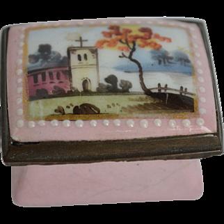 Antique English Enamel Snuff Box in Fine Condition