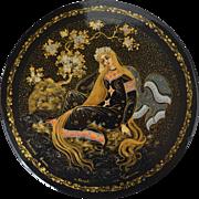 """Russian Lacuqer Box - """"Golden Hair"""""""