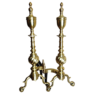 Antique, Urn style Andirons.