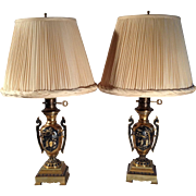 Colored Brass Table Lamps