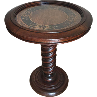 Antique Walnut Pedestal Table