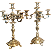 A Pair of early 19th Century German Candelabras