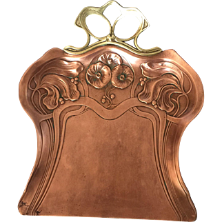 19th Century Art Nouveau Brass Tray.