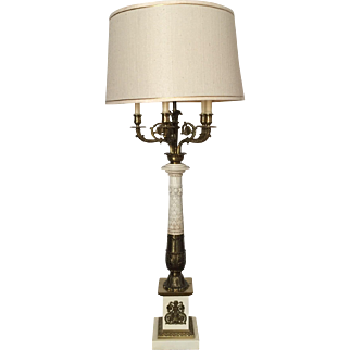 A Brass Candelabra Table Lamp