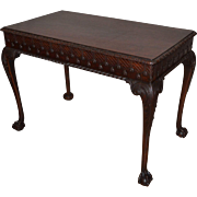 American Late 19C Mahogany Library Table