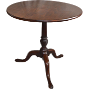 19th Century Queen Anne Style Tilt-Top Table