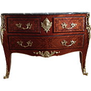 Antique Louis XV Style Bombe Commode