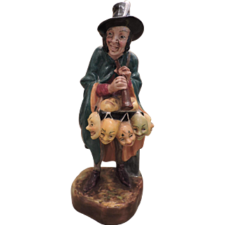 "Royal Doulton Figurine ""The Mask Seller"" HN 2103 - Dated 1952"